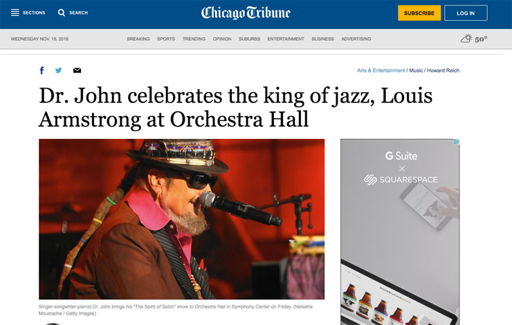 Chicago Tribune article dr john