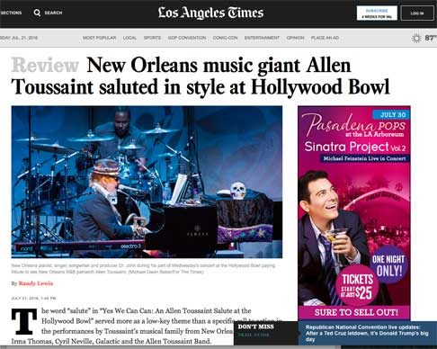 dr john toussaint tribute los angeles times
